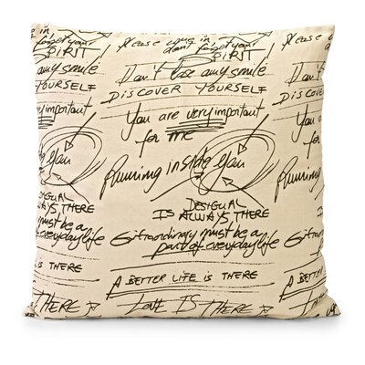 Newton Cotton Throw Pillow by IMAX