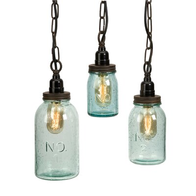 Lexington 3 Piece Mason Jar Mini Pendant Set (Set of 3) Product Photo