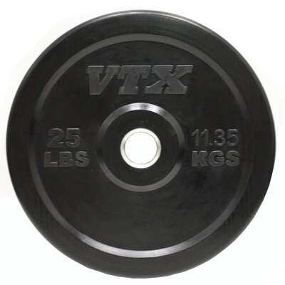 VTX 25 lbs Solid Rubber Bumper Plate by VTX by Troy Barbell