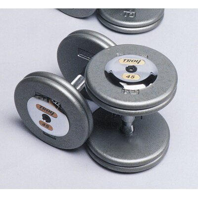 Troy Barbell 130 lbs Pro-Style Cast Dumbbells in Gray