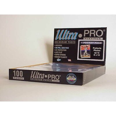 "Ultra Pro 8"" x 10"" Photos Display Box (1 Pocket Pages)"