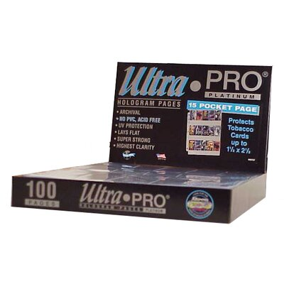 "Ultra Pro 1.5"" x 2.5"" Tobacco Cards Display Box (15 Pocket Pages)"