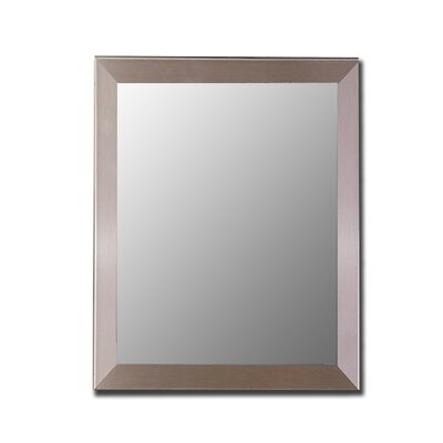 Silver Stainless Framed Wall Mirror by Hitchcock Butterfield Company