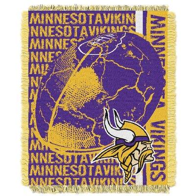 NFL Minnesota Vikings Triple Woven Jacquard Throw Blanket by Northwest