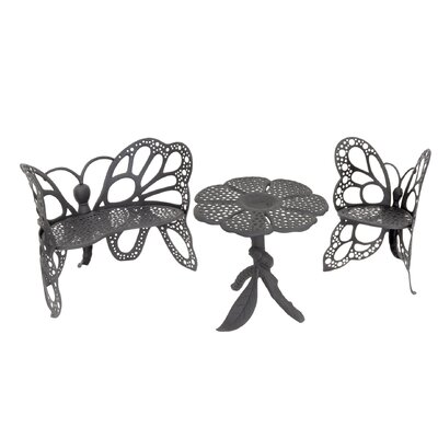 Flowerhouse Butterfly 3 Piece Bench Seating Group Set