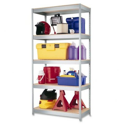 "CommClad Boltless Industrial 72"" H 5 Shelf Shelving Unit"