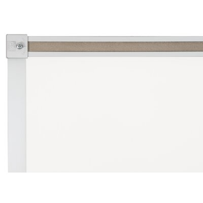 CommClad Thermal-Fused Dot Wall Mounted Grid Whiteboard,  2' x 3'