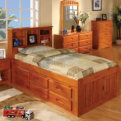Discovery World Furniture Weston Captain's Bookcase Bed with Storage Bookcase Bed