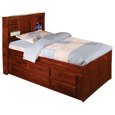 Discovery World Furniture Weston Captain's Bookcase Bed with Storage