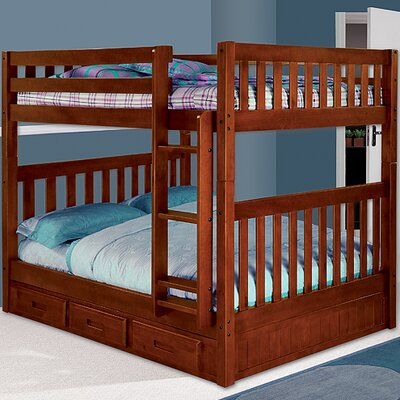 Discovery World Furniture Weston Full over Full Bunk Bed with Built-In Ladder 2115 2815