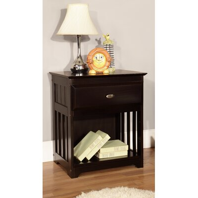 Discovery World Furniture Espresso 1 Drawer Nightstand 2960