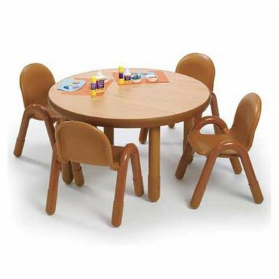 Angeles Round Baseline Preschool Table and Chair Set in Natural