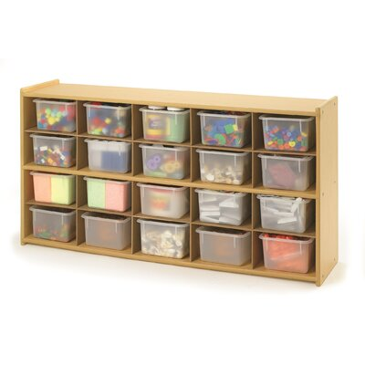 Angeles Value Line 20 Cubbie Storage with Opaque Trays