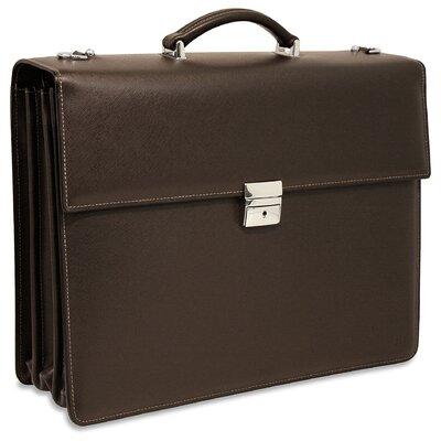 Prestige Triple Leather Laptop Briefcase by Jack Georges
