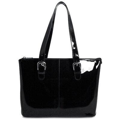 Patent Leather Madison Avenue Laptop Tote Bag by Jack Georges