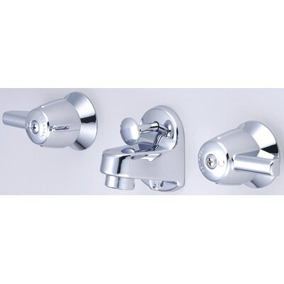 Wall Mounted Bathroom Sink Faucet with Double Lever Handles Product Photo