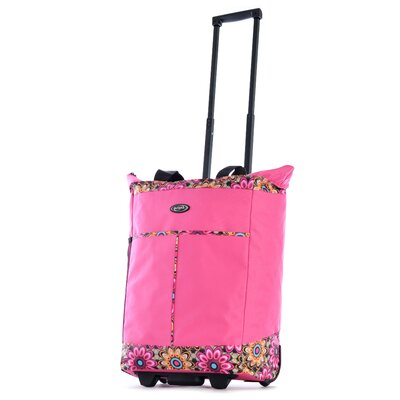 Flower Rolling Shopping Tote by Olympia