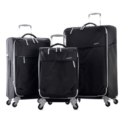 Swift 3 Piece Expandable Spinner Luggage Set by Olympia