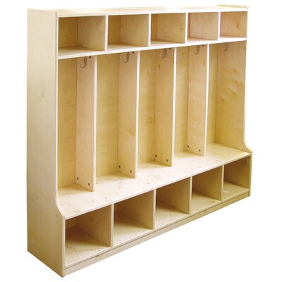 ECR4kids 3 Tier 5 Wide Coat Locker