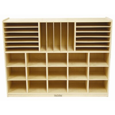 ECR4kids Multi Section Storage Cabinet 32 Compartment Cubby ELR 0428