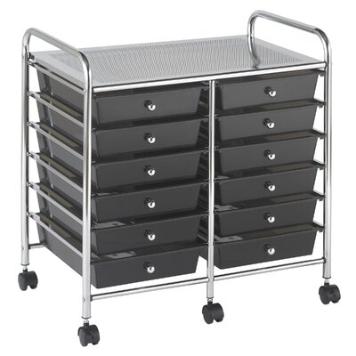 ECR4kids 12 Drawer Double-Wide Mobile Organizer