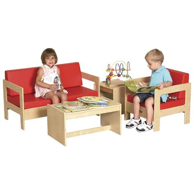 ECR4kids Kids 4 Piece Table and Chair Set