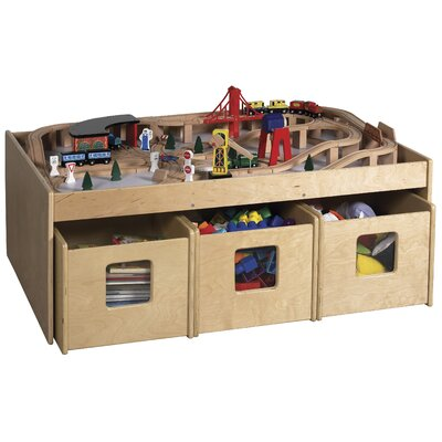 "ECR4kids See & Store™ 46"" x 33.5"" Rectangular Classroom Table"