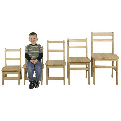 "ECR4kids Ladderback 14"" Hardwood Classroom Chair"