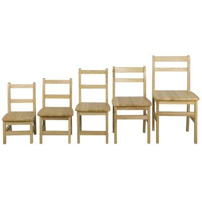 "ECR4kids Ladderback 12"" Wood Classroom Chair"