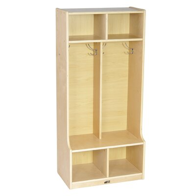 ECR4kids 1 Tier 2-Section Locker