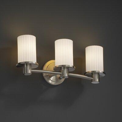 Justice Design Group Fusion Rondo 3 Light Bath Vanity Light
