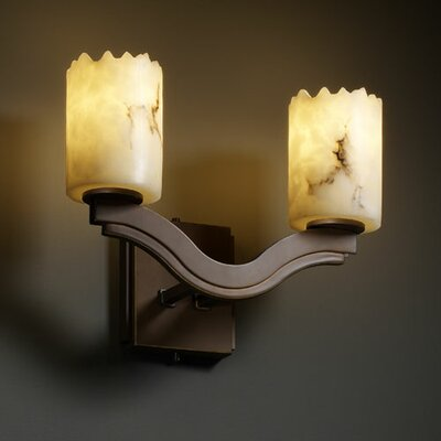 Justice Design Group LumenAria Bend 2 Light Wall Sconce