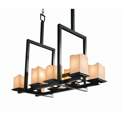 Justice Design Group Montana CandleAria 8-Up and 3-Down Light Bridge Chandelier