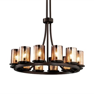 Dakota Fusion 12 Light Tall Chandelier by Justice Design Group