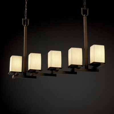 Montana Limoges 5 Light Zig-Zag Chandelier by Justice Design Group
