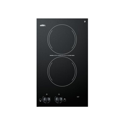 "12"" Electric Induction Cooktop with 2 Burners Product Photo"