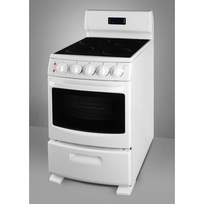 Electric Range in White Product Photo