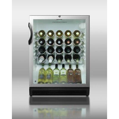 26 Bottle Single Zone Freestanding Wine Refrigerator by Summit Appliance