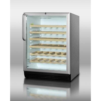 40 Bottle Single Zone Built-In Wine Refrigerator by Summit Appliance