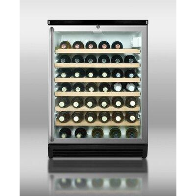 40 Bottle Single Zone Freestanding Wine Refrigerator by Summit Appliance