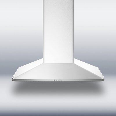 "Summit Appliance 29.63"" 650 CFM Convertible Wall Mount Range Hood in Stainless Steel"