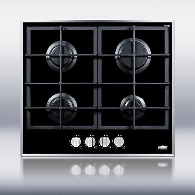 "23.25"" Gas Cooktop with 4 Burners Product Photo"