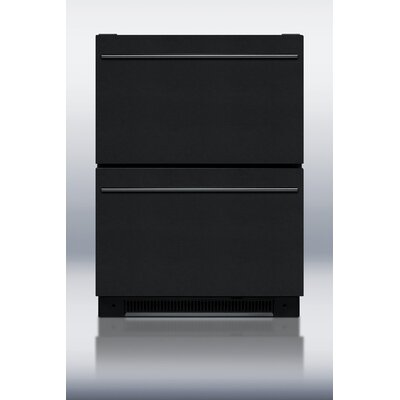 5.4 cu. ft. Drawer Refrigerator in Black Product Photo