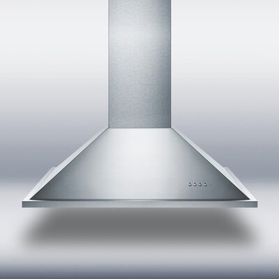 """35.38"""" 600 CFM Convertible Island Range Hood in Stainless Steel Product Photo"""