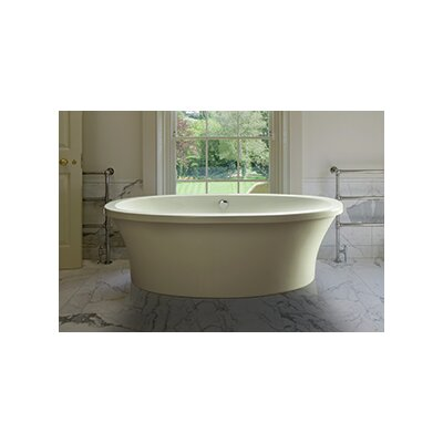 """Center Drain Freestanding 66"""" x 36.75"""" Soaking Tub with Virtual Spout Product Photo"""
