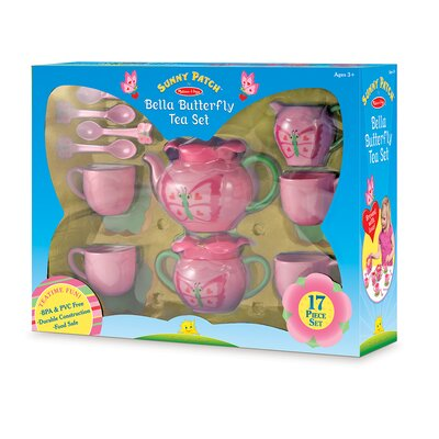 Melissa & Doug Bella 15 Piece Butterfly Tea Set