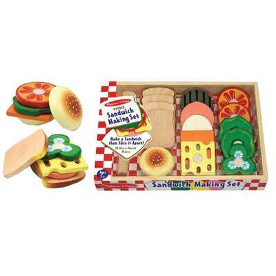 Melissa & Doug 17 Piece Sandwich Making Play Set