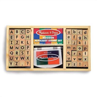 Melissa & Doug Alphabet Stamp Set Arts & Crafts Kit