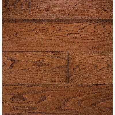 Wide Plank 7 Engineered Oak Hardwood Flooring In Gunstock
