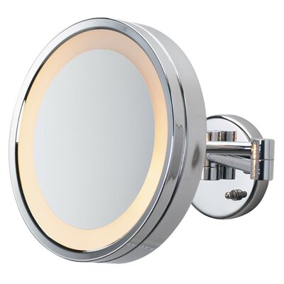 Halo Lighted Wall Mount Mirror by Jerdon